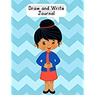 Draw and Write Journal: Composition Notebook for Kids - Paper With Primary Lines and Half Blank Space for Drawing Pictures - 140 Pages - Girl Design #5