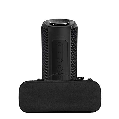 Yeyubh Altavoz Bluetooth portátil 40W Columna Deep Bass al Aire Libre Bar Sonido con IPX6 Impermeable, TWS, for Siri, SoundPulse Altavoz USB (Color : Black addCase)
