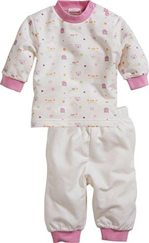 Schnizler Baby-Mädchen Interlock 2-teilig Bär Zweiteiliger Schlafanzug, Beige (Natur 2), 80