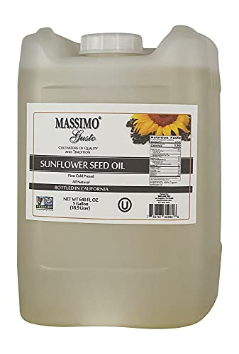 Massimo Gusto - USDA Organic - High Oleic - Sunflower Oil - 5 Gallon Bulk