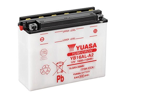 Batterie YUASA YB16AL-A2, 12V/16AH (Maße: 207x72x164) für Ducati 900 Monster Baujahr 1996