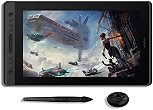 HUION KAMVAS Pro 16 Graphic Drawing Tablet with Screen Full-Laminated Graphics Monitor Pen Display with Battery-Free Stylus Tilt 8192 Pressure Sensitivity 6 Express Keys Touch Bar-15.6inch Pen Tablet