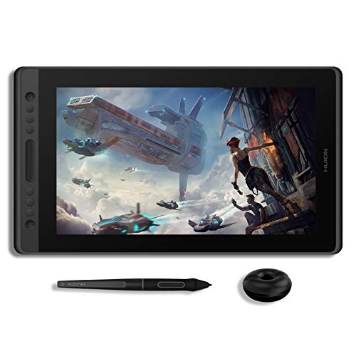 HUION KAMVAS Pro 16 Tablet de desenho com tela totalmente laminada para monitor gráfico com caneta Stylus Tilt sem bateria 6 teclas Express Touch Bar - 15,6 polegadas