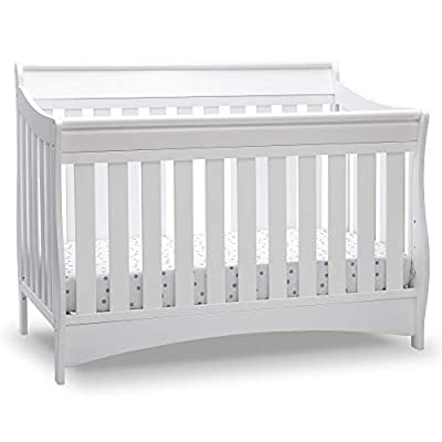 Delta Children Bentley S Series Deluxe 6-in-1 Convertible Crib, Bianca White