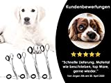 Fellschere Gerade Gebogen Hunde-Haarschere Hundescheren-Set 4-Teilig - 6