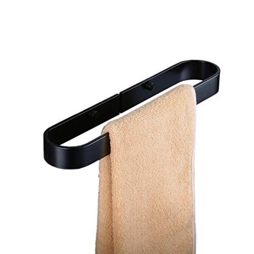 Beelee BA9299B-30 - Soporte para toallas de baño (aluminio), color negro mate