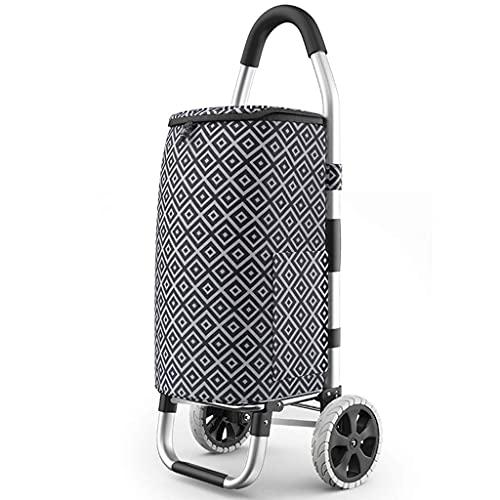 LIXBB YANGLOU-Carrito de Compras silencioso Plegable- Carros de Compras Carrito de Compras portátil de Gran Capacidad, Carro Plegable liviano Push-Trolley, hogar Multifuncional XBYZDGUC-5