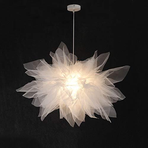 Yyqx Lámparas Colgantes Dormitorio de la lámpara de la Pluma romántica de la lámpara Creativa Moderna Chica de Noche de Gasa de luz de la lámpara Lámpara de Techo Colgante