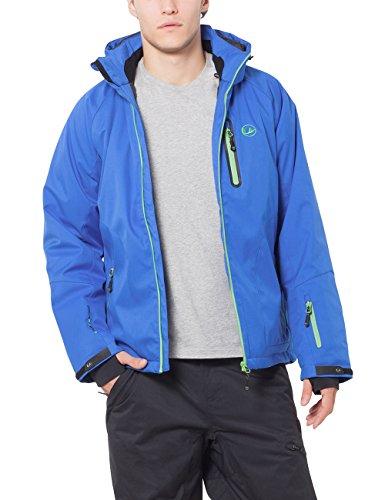 Ultrasport - Everest - Veste d'extérieur alpine fonctionnelle Softshell pour Homme - Bleu (Bleu Victoria/Shamrock) - Taille: XL