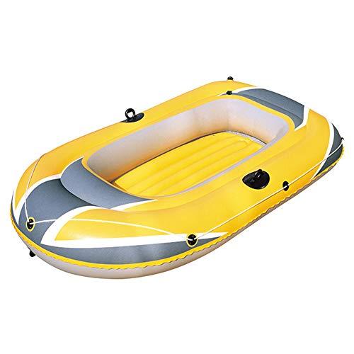 Y-BOAT Schlauchboot Sit on Top Kajak Schlauchboot Angeln Set 4 Personen Kanu Mit Paddel Wassersport, 318 * 152Cm