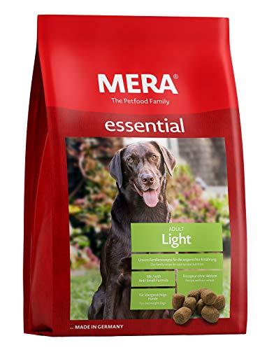 MERA essential Hundefutter > Light < Für übergewichtige Hunde - Geflügel Trockenfutter mit geringerem Fettanteil - Ohne Weizen & Zucker (12,5 kg)