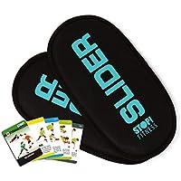 Stop. Fitness Super deslizante Pads (1par) y guía de inicio rápido y planes de entrenamiento