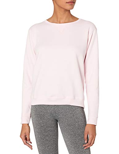 Hanes Women's V-Notch Pullover Fleece Sweatshirt, Pale Pink, L