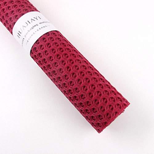 Mijnwerker plakboek naaien handgemaakte DIY decoratieve holle ronde papier bruiloft verjaardagsfeestje levert bloem inpakpapier, rood