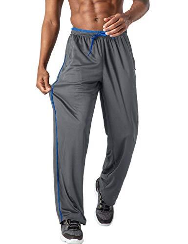 EKLENTSON Mens Jogger Pants Sport Pants for Men Jogging Pants Men Relaxed Fit Track Pants Mens Athletic Pants Sweat Pants for Men Gray/Blue