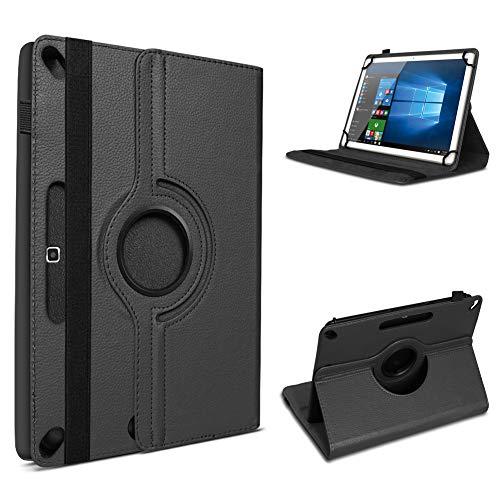 UC-Express Tablet Hülle kompatibel für Jay-tech G10.11 LTE / G10.10 Tasche Schutzhülle Cover Schutz Case 360 Drehbar Klapphülle, Farben:Schwarz