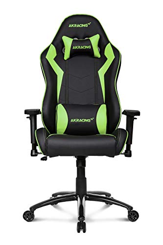 AKRacing Core Series SX Gaming Chair with High Backrest, Recliner, Swivel, Tilt, Rocker and Seat Height Adjustment Mechanisms with 5/10 Warranty - Green