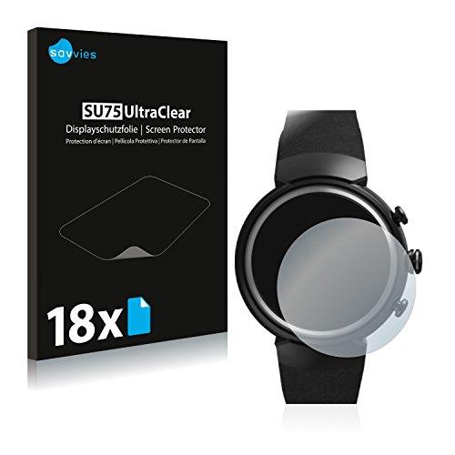Savvies 18x Schutzfolie kompatibel mit Asus ZenWatch 3 1.39