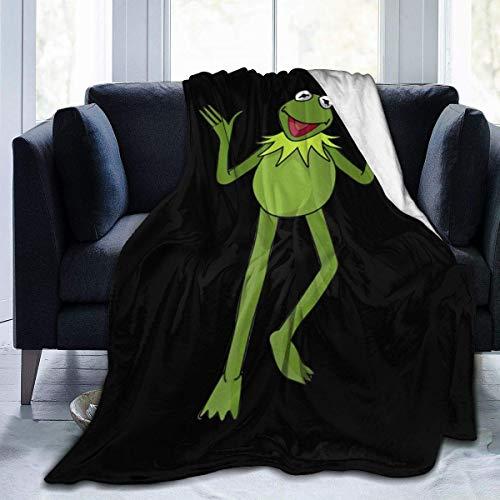 Manta de Tiro Kermit The Frog Manta de Tiro súper Suave y cálida para sofá Clair Bed Office