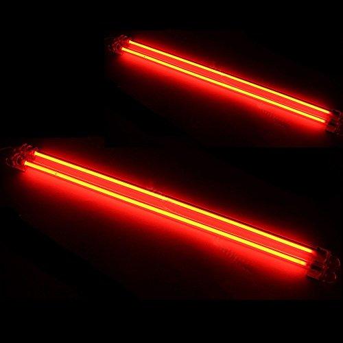 Mintice&Trade; 15cm 30cm KFZ Unterboden Innenbeleuchtung Fußraumbeleuchtung Neonröhren Licht Kaltkathoden Rot CCFL