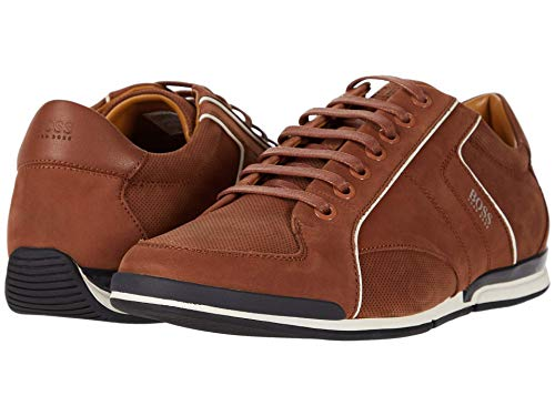 Hugo Boss BOSS Saturn Low Profile Sneaker by BOSS Medium Brown 10 D (M)