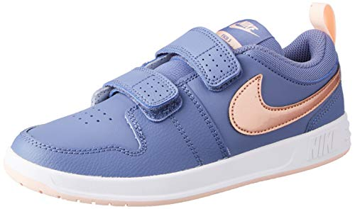 Nike Pico 5 (PSV) Tennis Shoe, World Indigo/Metallic Red Bronze-Washed Coral, 34 EU