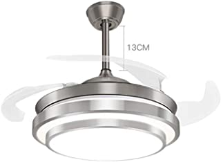 Ventilatore a Soffitto Lampada Loft Nichel 112 cm anta trasparente con telecomando