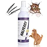 Halfeary Cat Deterrent Spray - Cat Repellent Spray Protect Furniture, Plants, Floor, Suit for Indoor and Outdoor, Cat Spray Deterrent for Anti Scratching & Biting, Cat & Kitten Training Aid, 58ml/2OZ
