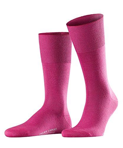 FALKE Herren Socken Airport - Merinowoll-/Baumwollmischung, 1 Paar, Rosa (Arctic Pink 8233), 43-44