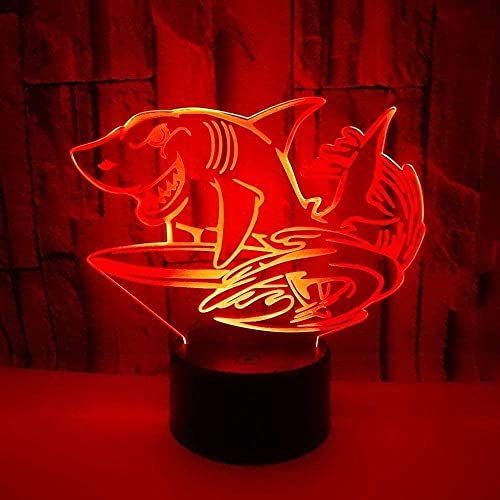3D Luz Nocturna Led lámpara de ilusión óptica para Reloj despertador ideal como regalo de cumpleaños para niños, niños y hombres Siete cambios de color, con interfaz USB