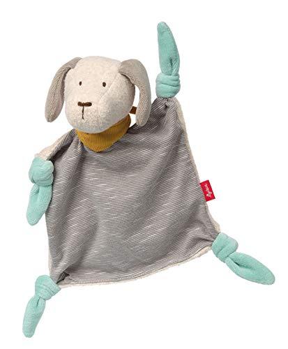 Sigikid Sigikid41939 Mädchen und Jungen, Hund Signature Coll. Babyspielzeug, empfohlen ab 0 Monaten, 41939 Schnuffeltuch, blau, grau, 26 x 20 x 9 cm