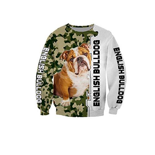 Animal Pug Dog Pet Funny 3D Print Hoodies Hombres Mujeres Sudaderas Casuales Chaqueta con Cremallera Pullover...