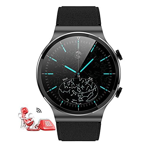 Reloj Smartwatch Responder Llamadas,1,28'' Bluetooth Reloj Inteligente Medidor De Frecuencia Cardíaca Presión Arterial Oxígeno En Sangre Contador De Calorías, Pulsera Actividad Inteligente ,Negro