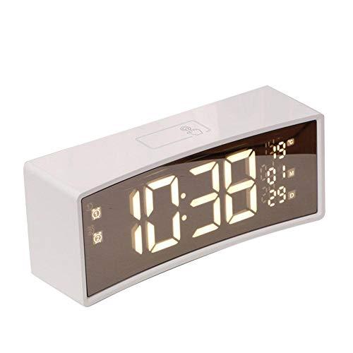 Amusement 1 reloj despertador retro vintage con retroiluminación LED y segunda mano silenciosa.