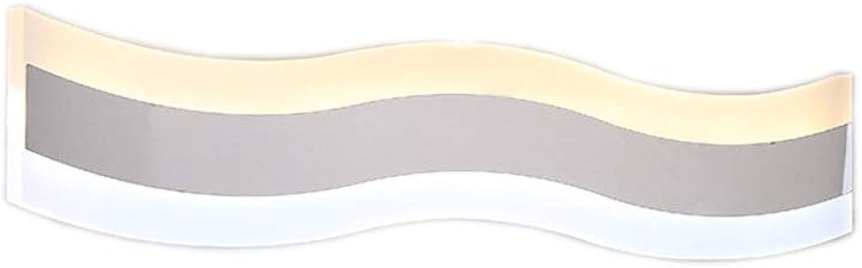 badezimmerlampe Spiegelfrontlicht - Modernes minimalistisches LED-Zweifarb-Hotelprojekt-Badezimmerlampe Badezimmer-flache Wandlampe Spiegel-Scheinwerfer (ausgabe   Weies Licht-40 cm)