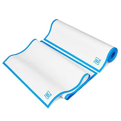 ROLL-DRAP  - Paños de Cocina 40 x 64 cm. Blanco Cenefa Azul (10 unidades)
