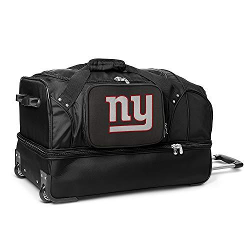 NFL New York Giants Rolling Drop-Bottom Duffel Bag, 27-inches