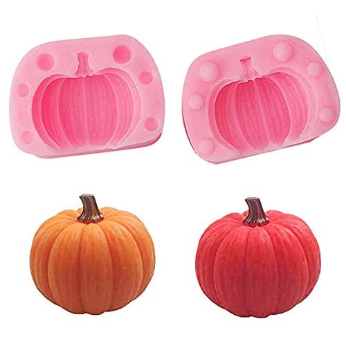 Molde De Silicona De Halloween Forma De Calabaza DIY Molde De Vela Vela Hacer Moldes De Silicona Moldes De Derretimiento De Cera Mini Jabón Hacer Molde De Vertido