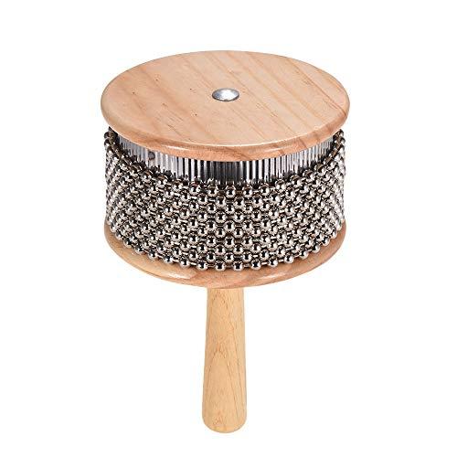 Muslady Cabasa houten drums muziekinstrument metalen parels ketting & cilinder pop hand shaker voor klaslokaal band medium grootte