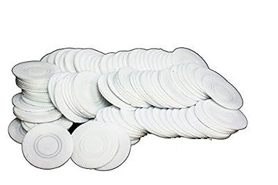 PAVILIA White Poker Chips/100-Bg