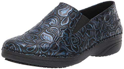 Spring Step Professional Women's Manila-HYBD Uniform Dress Shoe, Blue, 7.5 Wide US