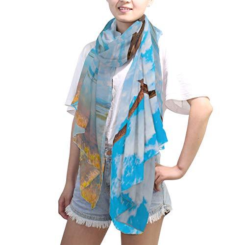 LZXO Schal für Damen, Tiere, Hawk, Vogel, See, modisch, lang, weich, leicht, für alle Jahreszeiten