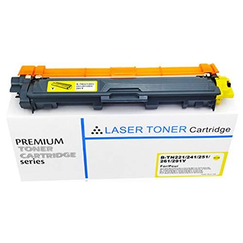 XIGU Cartucho de tóner compatible para Brother TN261 para impresora Brother HL3140CW MFC9130 DCP9020, impresión suave, sin rayas, color amarillo