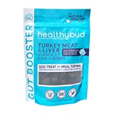 Healthybud Turkey Gut Booster Dog Treat & Meal Topper - Non-GMO Vet Recommended Prebiotic Chews for Healthy Bowels & Digestion 4.6oz