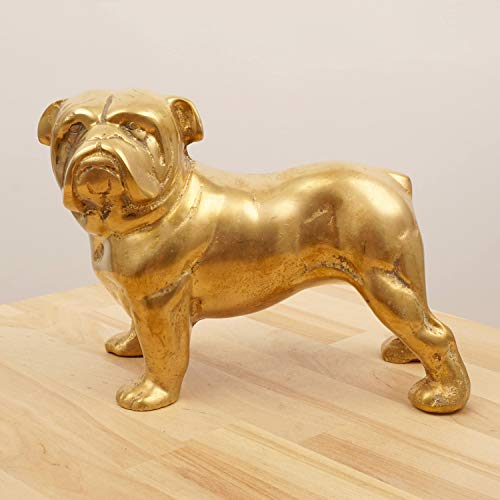 Restored by UkaVintage Heavy Dog || Sculpture/Statue || French Bulldog || Vintage Solid Brass
