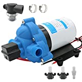 12v Boat RV Inline Water Pump, Portable Water Pressure Booster Pump for Boat and RV, High Pressure Boat and RV Shower Water Pump