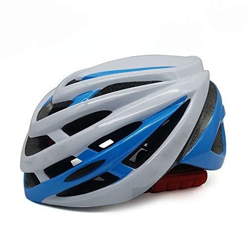 Kaper Go Fahrrad Reithelm Integrierte Form Mountain Road Helm Outdoor Reiten Schutzausrüstung Reithelm (Color : White Blue)