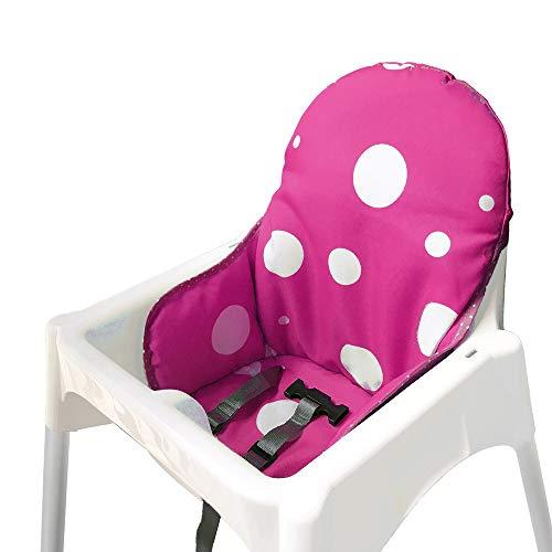 ZARPMA Sitzbezüge Kissen Kompatibel für Ikea Antilop Hochstuhl , Waschbar Faltbarer Baby Hochstuhl Bezug Kinder Sitz Covers Stuhlkissen(Lila)