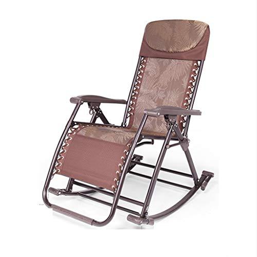 YYHSND Silla reclinable reclinable Mecedora reclinación Plegable Silla for Ancianos Respaldo for el hogar Silla for Siesta for Adultos portátil Silla Plegable