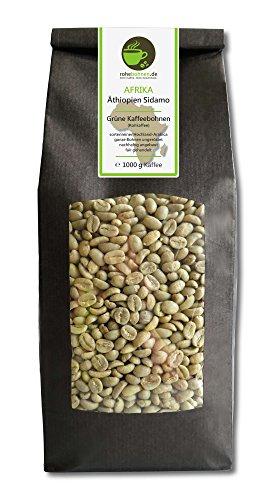 Rohkaffee - Grüner Hochland Kaffee Äthiopien Sidamo (grüne Kaffeebohnen 1000g)
